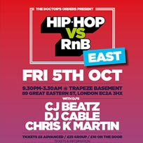 Hip Hop vs RnB at Trapeze on Friday 5th October 2018