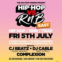Hip Hop vs RnB at Trapeze on Friday 5th July 2019