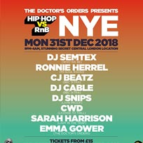 Hip Hop vs RnB NYE at Secret Location on Monday 31st December 2018