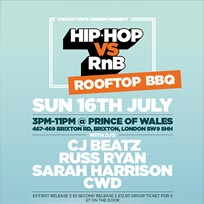 Hip Hop vs RnB Rooftop Rave at Prince of Wales on Sunday 16th July 2017