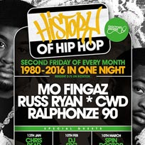 History of Hip Hop at Lockside Lounge on Friday 10th March 2017