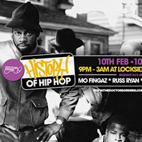 History of Hip Hop at Lockside Lounge on Friday 10th February 2017
