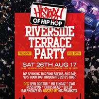 History of Hip-Hop Riverside Terrace Party at Southbank Centre on Saturday 26th August 2017