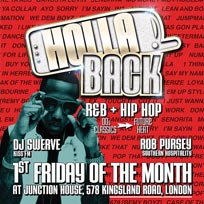 HollaBack w/Rob Pursey & DJ Swerve at Junction House on Friday 1st September 2017