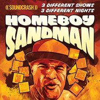 Homeboy Sandman at Echoes on Sunday 16th October 2016