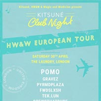 HW&W European Tour at The Laundry on Saturday 30th April 2016