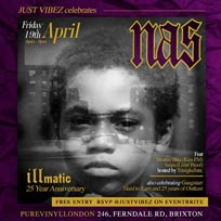 Illmatic 25th Anniversary at Pure Vinyl on Friday 19th April 2019