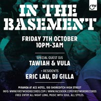 First Word In The Basement at Ace Hotel on Friday 7th October 2016