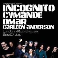 Incognito + Cymande at The Roundhouse on Saturday 7th July 2018