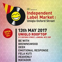 Independent Label Market at Uniqlo on Saturday 13th May 2017