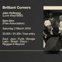 Jake Holloway & Sam Don at Brilliant Corners on Saturday 2nd March 2019