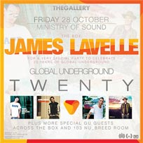 James Lavelle at Ministry of Sound on Friday 28th October 2016