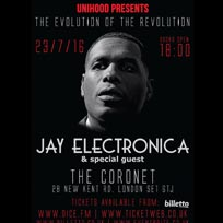 Jay Electronica at Coronet on Saturday 23rd July 2016
