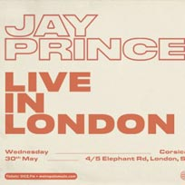Jay Prince at Corsica Studios on Wednesday 30th May 2018