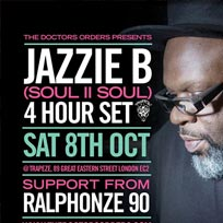 Jazzie B at Trapeze on Saturday 8th October 2016