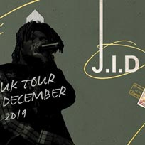 J.I.D at The Forum on Friday 6th December 2019