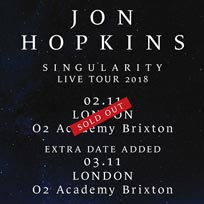 Jon Hopkins at Brixton Academy on Saturday 3rd November 2018