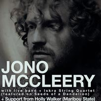 Jono McCleery at The Garage on Thursday 29th March 2018