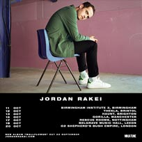 Jordan Rakei at Shepherd's Bush Empire on Friday 20th October 2017