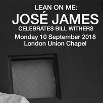 Jose James at Union Chapel on Monday 10th September 2018