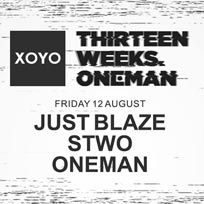 Just Blaze at XOYO on Friday 12th August 2016