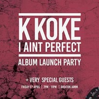 K Koke at Brixton Jamm on Friday 5th April 2019