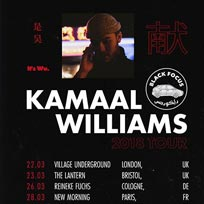Kamaal Williams at Village Underground on Thursday 22nd March 2018