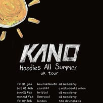 Kano at Drumsheds on Friday 7th February 2020