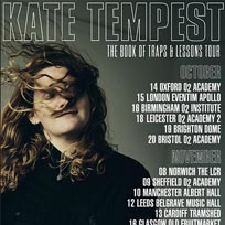 Kate Tempest at Hammersmith Apollo on Tuesday 15th October 2019