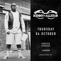Kenny Allstar  at Corsica Studios on Thursday 4th October 2018