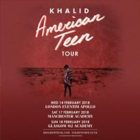 Khalid at Hammersmith Apollo on Wednesday 14th February 2018