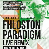 King Britt presents Fhloston Paradigm at Archspace on Friday 3rd February 2017