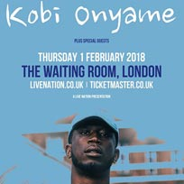 Kobi Onyame at The Waiting Room on Thursday 1st February 2018