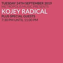 Kojey Radical at Scala on Tuesday 24th September 2019