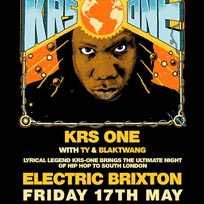 KRS One at Electric Brixton on Friday 14th December 2018
