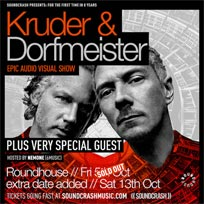 Kruder & Dorfmeister at The Roundhouse on Saturday 13th October 2018