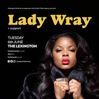 Lady Wray at The Lexington on Tuesday 6th June 2017