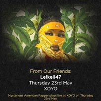 Leikeli47 at XOYO on Thursday 23rd May 2019