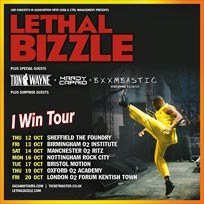 Lethal Bizzle at The Forum on Friday 20th October 2017