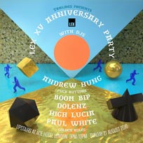 Lex 15th Anniversary Party at Ace Hotel on Sunday 21st August 2016