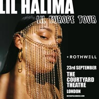 Lil Halima at The Courtyard Theatre on Monday 23rd September 2019