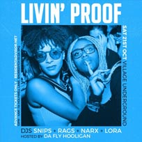 Livin' Proof at Village Underground on Saturday 21st October 2017