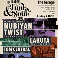 The London Funk & Soul Club at The Garage on Friday 7th October 2016