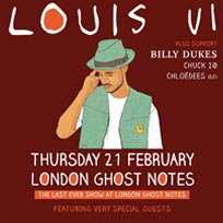 Louis VI at Ghost Notes on Thursday 21st February 2019