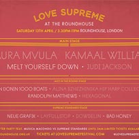 Love Supreme at The Roundhouse on Saturday 13th April 2019