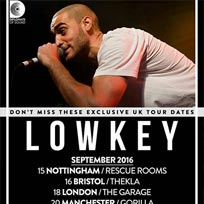 Lowkey at The Garage on Sunday 18th September 2016