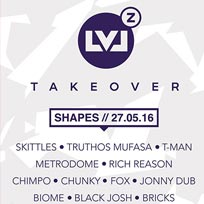 Levelz Takeover at Shapes on Friday 27th May 2016