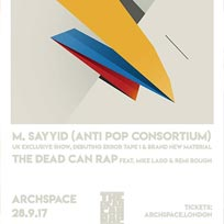 M. Sayyid at Archspace on Thursday 28th September 2017