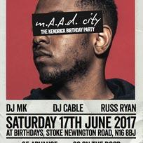 MAAD City at Birthdays on Saturday 17th June 2017