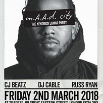 m.A.A.d City  at Trapeze on Friday 2nd March 2018